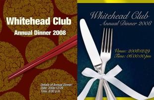 Annual Dinner Invitation Card Design
