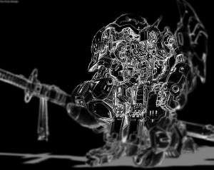 Babylon Design foundry 3D modeling for BANDAI x threezero together to create original works of FULLMETAL GHOST robot